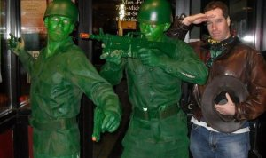 me and green men